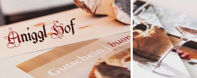 Auch die Schlüsselkarten sind Premium-Printmaterial im Südtiroler Anigglhof.
