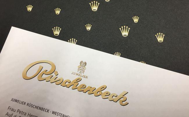 Anschreiben und Katalog für ein Mailing von Rüschenbeck