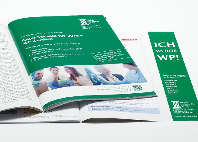 Printanzeige von AKS in einer Fachzeitschrift