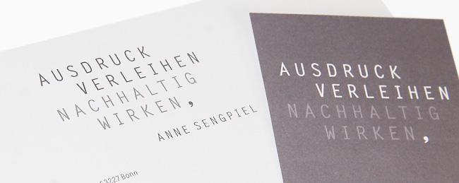 Briefbogen- und Visitenkartengestaltung für Anne Sengpiel