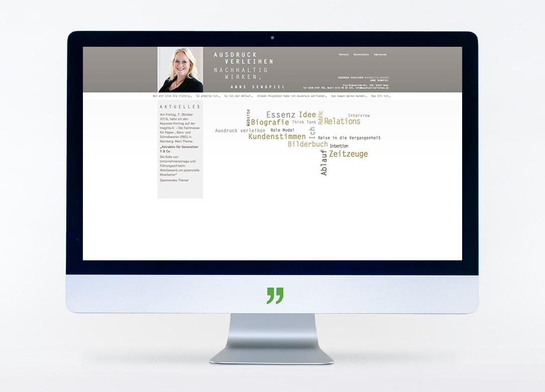 Webseitengestaltung und -erstellung für Anne Sengpiel