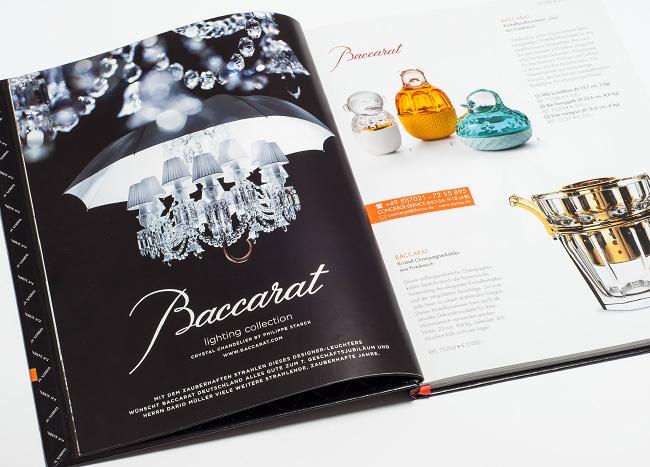Printanzeige Baccarat in Katalog
