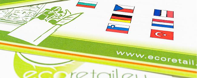 Nahaufnahme der verschiedenen EU-Partnern, dargestellt mit Länderflaggen