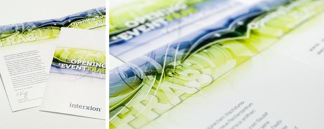 """Broschüre von interxion zum Thema """"OPENING EVENT FRA8"""""""