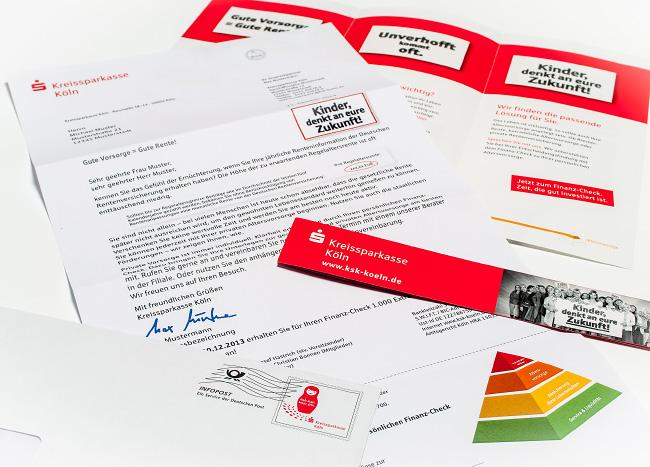 Kampagnen Mailing und Broschüre der Kreissparkasse Köln