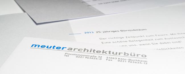 """Briefbogen mit Logo des """"meuterarchitekturbüro"""""""