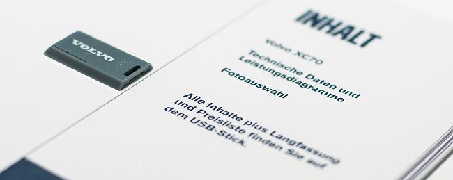 Inhaltsverzeichnis eines Printmaterials von Volvo.