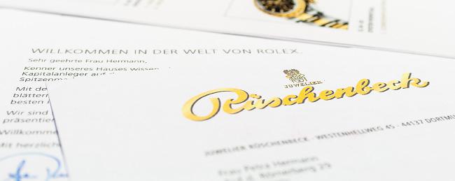 Mailing des Juweliers Rückenbeck