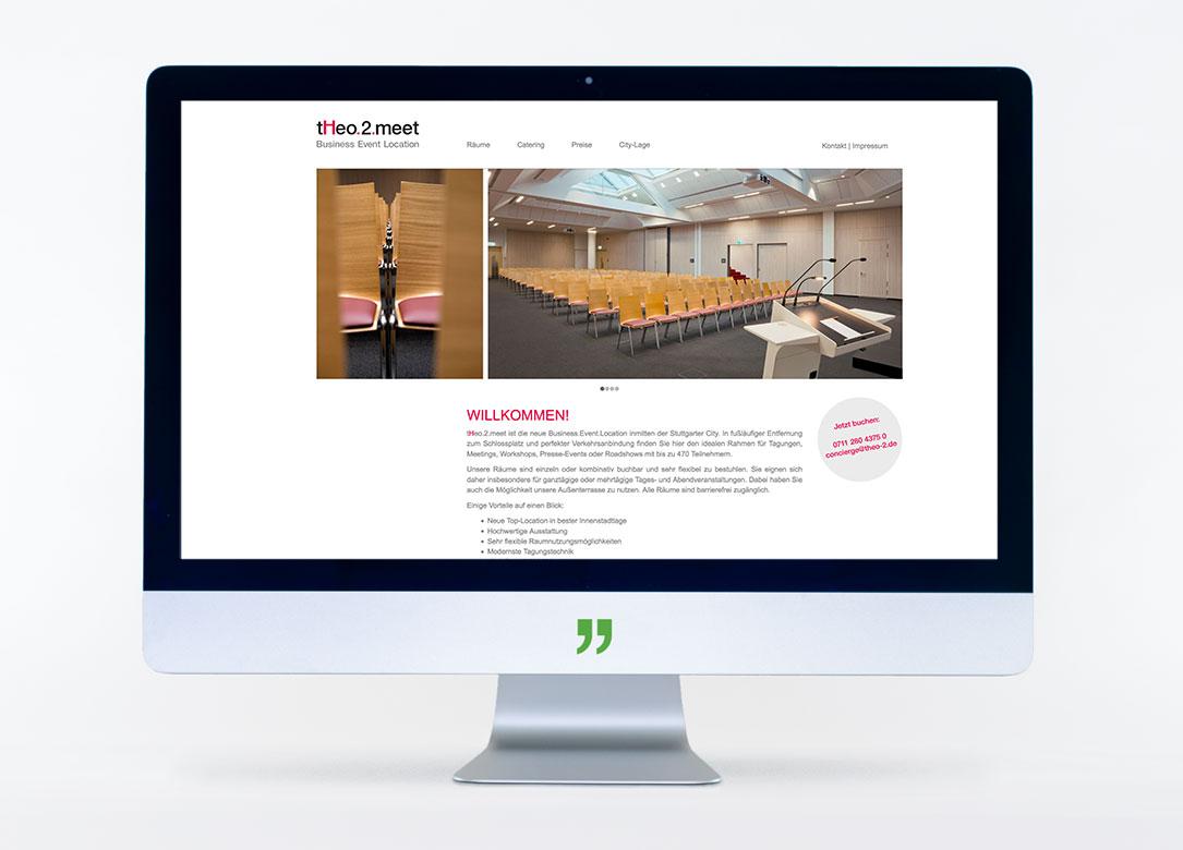 Bildschirm mit Webseite von theo.2.meet