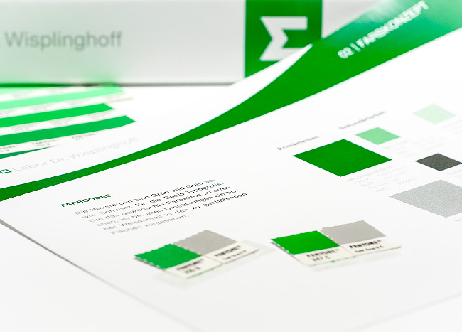 Farbauswahl zur Erstellung eines Corporate Designs für das Labor Dr. Wisplinghoff