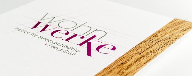 Veredelung des Printmaterials mit einer Holzoptik